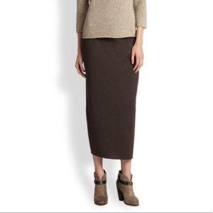 Eileen Fisher Brown wool tube skirt